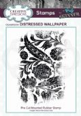 CE Rubber Stamp by Andy Skinner - Distressed Wallpaper - CEASRS004